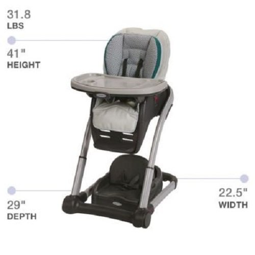 Graco Blossom 4-in-1 Convertible High Chair Seating System, Sapphire by Graco (Image #12)
