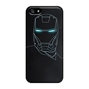 Iphone High Quality Tpu Case/ Iron Man Outline GHywduX1551GirIn Case Cover For Iphone 5/5s