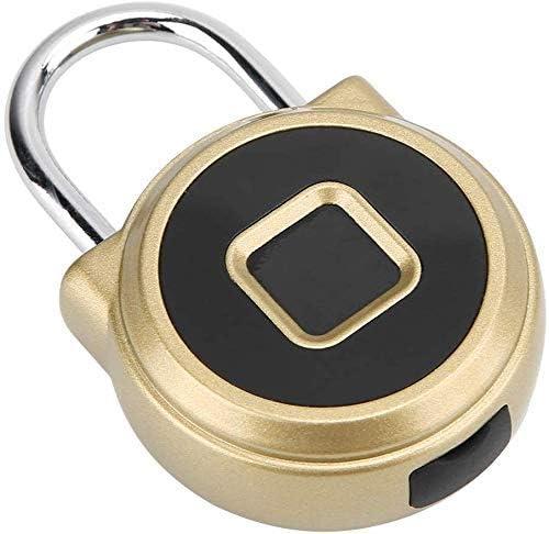 バッグ荷物キャビネットの引き出しエレクトリック指紋南京錠用バッテリーとミニメタルスマート電気指紋南京錠、 (Color : 1#)