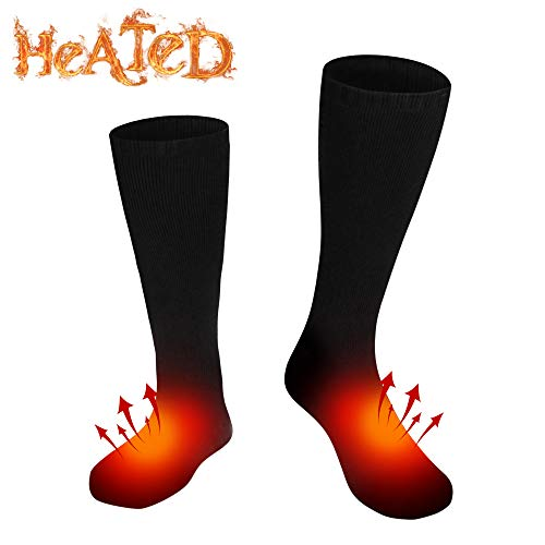 Autocastle Electric Heated Socks Thermal Insulated Sock Battery Powered Heating Sox,Winter Rechargeable Heat Socks Kit for Chronically Cold Feet,Climbing Hiking Foot Warmer(Battery not Included)