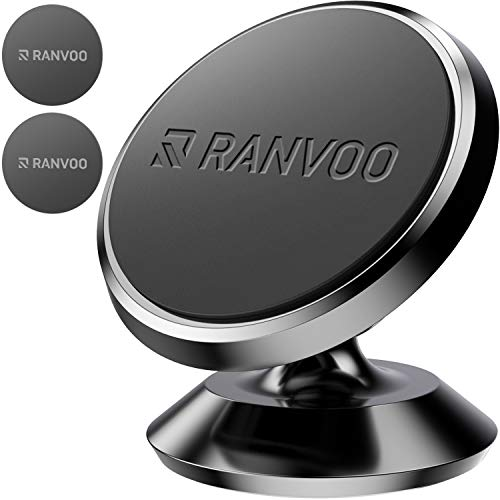 MAGNETIC Car Phone Mount, Ranvoo UNIVERSAL Magnet Dashboard Adhesive Car Mount Cell Phone Holder for iPhone X iPhone 7/8 Plus Samsung S8 S9 Plus LG GPS by RANVOO