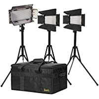 Ikan IBK23150-v3 Small Interview Dual Color Kit with 2xiLED312-V2 and 1xIB508-V2 (Black)