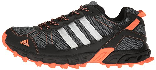adidas Women's Rockadia Trail W Running Shoe Black/White/Easy Orange 6 M US by adidas (Image #5)