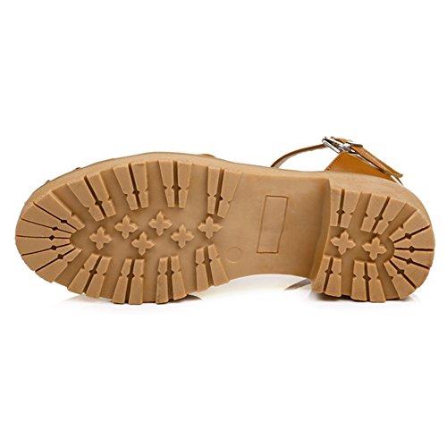 Bajo Tacon Yellow Para Ancho Zapatos Mujer de Coolcept qIEPwfW7