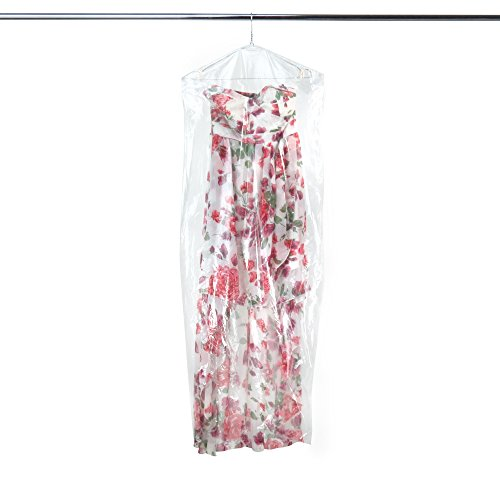 Hangerworld Pack of 50 Clear Polythene Long Gown Dress Garme