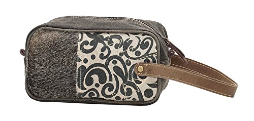 Myra Bag Segmented Denim & Upcycled Canvas Shaving Kit Bag S-1117