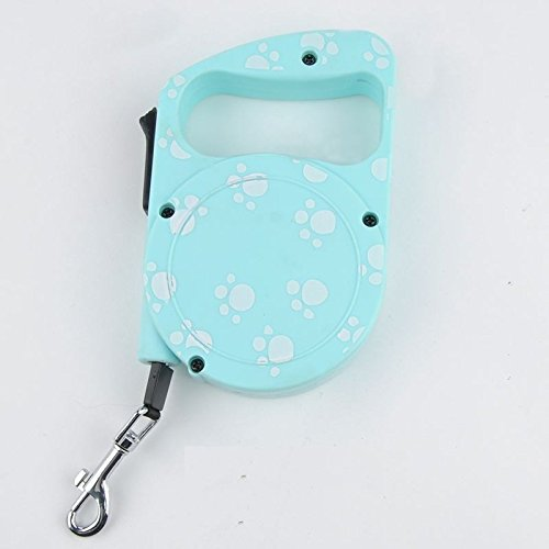1pc 3M Retractable Dog Leash Pet Traction Rope Chain Harness Dog Collar - Green
