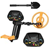 WELQUIC Metal Detector Pinpointer with High Accuracy VLF Technology and Discrimination Mode Waterproof for Gold Nugget Prospecting Relics Coins Jewelry Hunting Includes Carry Bag (Black and Yellow)