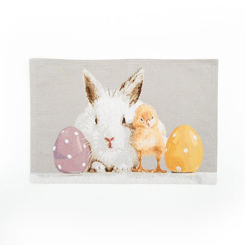 Happy Easter Tapestry Placemats - Set of 4 - Easter Pals