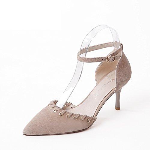 Señaló Zapatos De Tacón Alto/Los Talones Gatito/Bien Con Una Palabra De Zapatos De Ayuda Baja A
