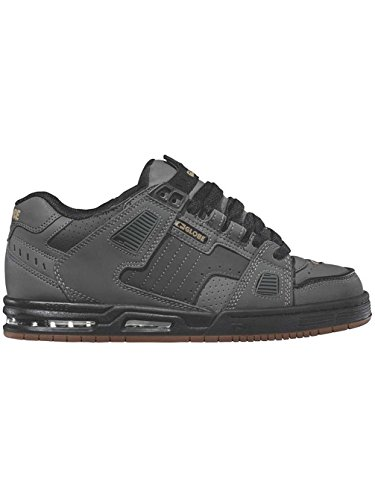 Zapatos Globe Sabre Charcoal-Negro-Gum (Eu 42.5 / Us 9.5 , Gris)
