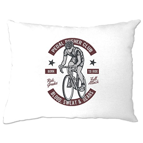 Tim And Ted Cycling Pillow Case Pedal Pushers Club Biker Cyclist Retro Distressed