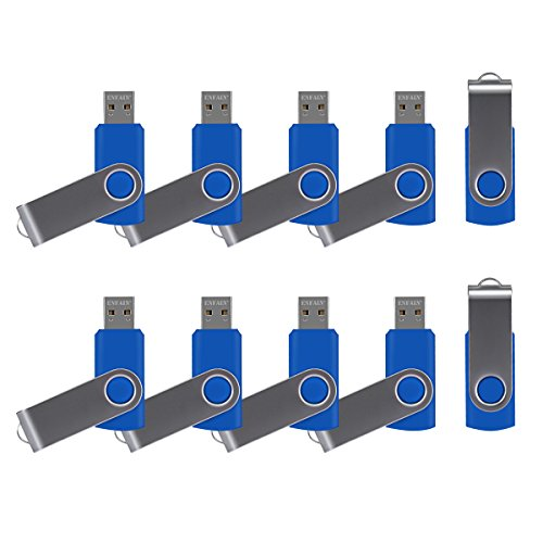 32GB Fold USB 2.0 Flash Memory Stick Pen Drive Thumb Disk Blue - 1