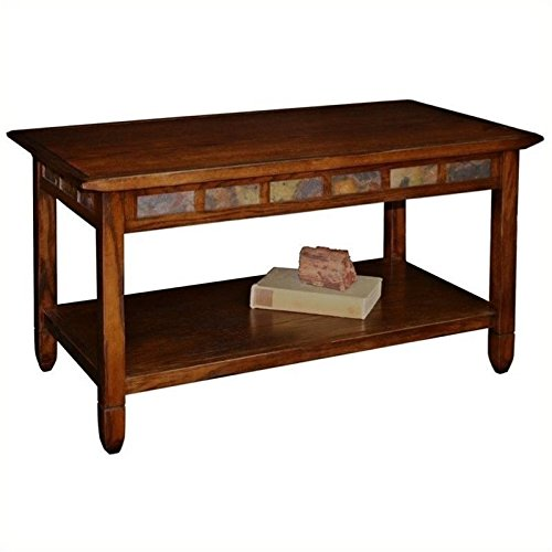 (BOWERY HILL Rectangular Coffee Table in Rustic Oak)