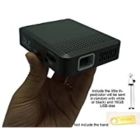Salange Pico 100 Ansi Lms Mini DLP Projector with 3200 mAh Chargble Battery Micro HDMI USB VAG/AV Micro SD Slot