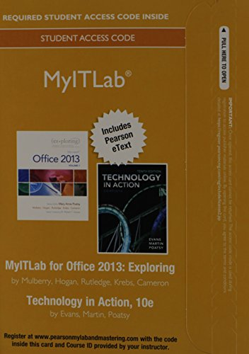 MyITLab with Pearson eText -- Access Card -- for E…