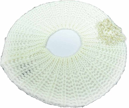 Inc International Concepts Crochet Flower Beret Ivory