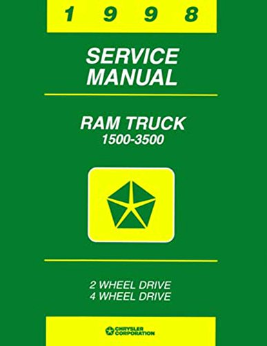 bishko automotive literature 1998 Dodge 1500-3500 Ram Truck Shop Service Repair Manual Book Engine Wiring OEM
