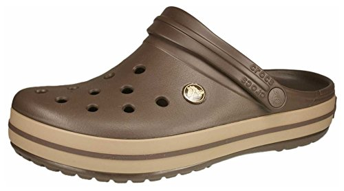 Men's Crocband Espresso/Khaki Ankle-High Rubber Sandal - 5M