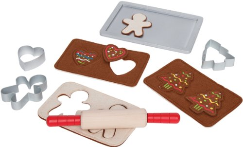 Hape Gingerbread Baking Set Wooden Play Kitchen Food Set and Accessories ()