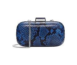 MICHAEL Michael Kors Womens Elsie Dome Clutch (Electric Blue/silver)