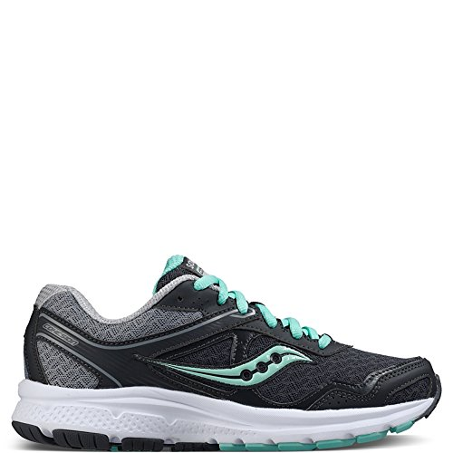 Saucony Women's Cohesion 10 Running Shoe, Grey/Mint, 6.5 M US