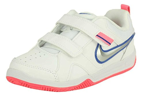 Nike - Nike Lykin 11 (TDV) Scarpe Bambina Bianche Pelle Strappi 454376 Bianco