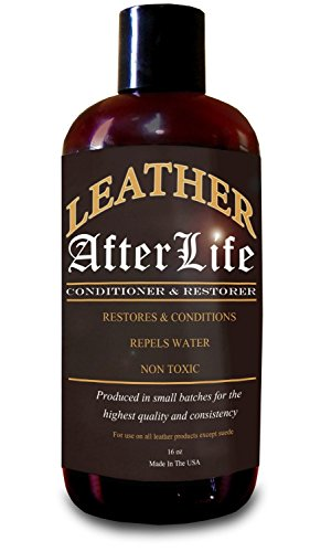 Leather Conditioner & Restorer by Leather Afterlife - The Best Leather Protectant - Cars, Furniture, Seats, Shoes, Sofa, Boots, Saddles Purses & More - Repels Water - Penetrates & Protects