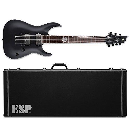 Esp Ltd 7 String - ESP Artist Series LAJ7BLKS 7-String Solid-Body Electric Guitar, Black Satin