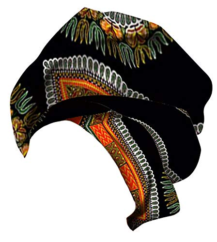 (Ababalaya Women's Extra Long African Traditional Print Head Scarf Wrap Tie 35×43 inch,39)