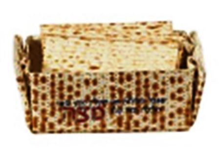 Passover Matzo Holder for Pesach Matzah Basket - Seder Serving & Matzoh Afterwards Folding by Israel Gifts