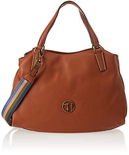 Trussardi Jeans 75b00428-9y099999, Borsa Tote Donna, 39x20x13 cm (W x H x L) Marrone (Leather)