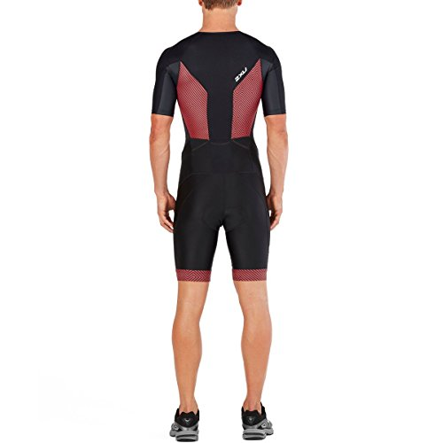 Perform kona Sleeved Black Zip Full Red Uomo Team Body Triathlon 2xu ZdqAFZ