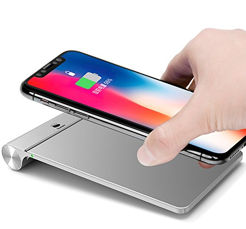 aluminum wireless charger pad iphone x wireless charger 7. Black Bedroom Furniture Sets. Home Design Ideas
