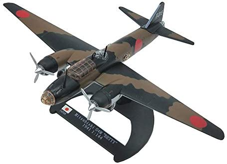 1/144スケール戦闘機プラモデル、軍事一式陸上攻撃機BETTY 1941モデルアダルトグッズ、6.7Inch X5.5Inch