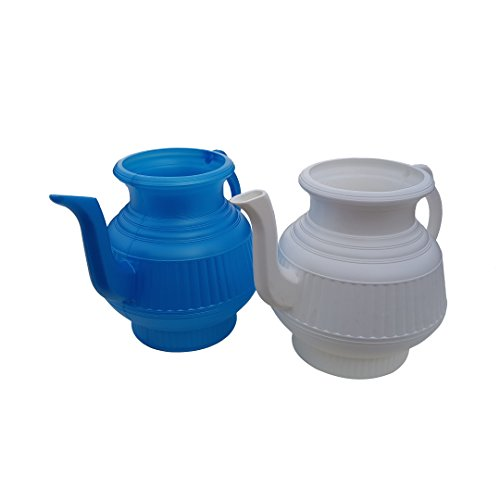 Mayaka786 Pair of White and Blue Lota Bodna or Toilet Wash Jug