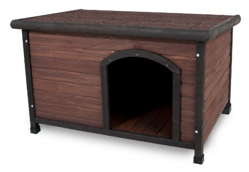 Aspen Pet Ruff Hauz Off Set Door Dog House, 25 to 50-Pound (Petmate Shelter)