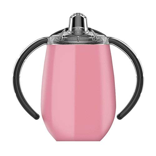 True North Double Walled insulated Beach Pink 9 oz stainless steel sippy cup