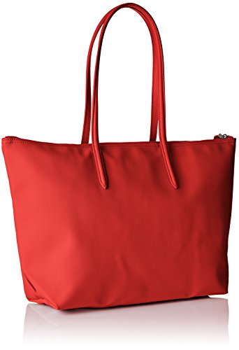 L PVC Femme x Risk 5x35 14x29 High H Toile x Bandouliere Rouge cm Sac Cabas Lacoste Red W 1XwOx
