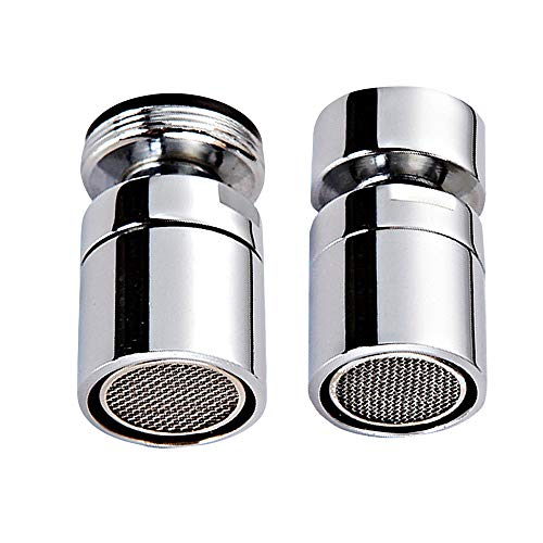 Internal and External Thread Kitchen Sink Aerator - Angle Swivel Faucet Aerator Sprayer - All Bronze - Set of 2