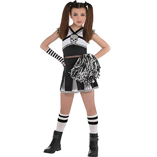 Cheer Costumes For Girls (AMSCAN Rah Rah Rebel Cheerleader Halloween Costume for Girls, Medium, with Included)
