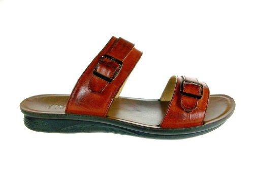 Majestic Mens 28523 Classique Slip Sur Sandales Tan