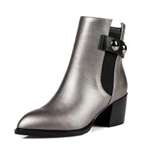 hexiajia - Sandalias de Vestir Mujer gris