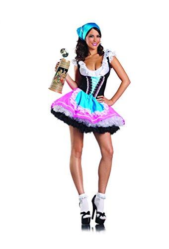 Adult Women's 4 Piece German Beer Girl Bar Maiden Oktoberfest Halloween Party Costume
