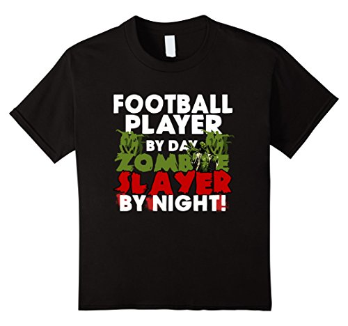 Kids Funny Halloween Tee Shirts Football Player Zombie T Shirt 10 Black - Girl Football Player Halloween Costumes