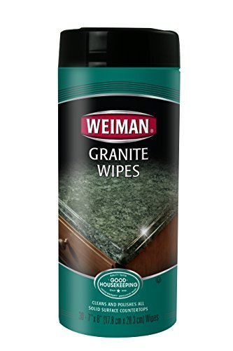 Weiman Granite Wipes 30 count - 120 count (4 packs of 30)