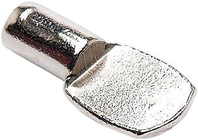 St/ück Wei/ß Bulk Hardware BH04250 Regalbodenhalterung aus vernickeltem Metall zum Eindr/ücken Packung /à 16