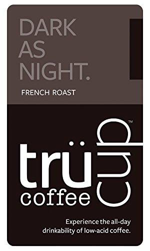 Trücup low-acid coffee - Dark as Night, French Roast - Espresso Grind, One Pound Bag