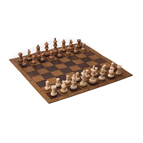 Saddleback Leather Tournament Chess And Checkers Set (Leather Travel Chess)