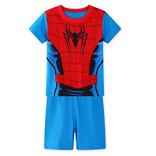 YUNMO Juego de Traje de Dos Piezas Spiderman para niños Spiderman ...